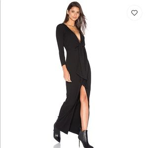 Privacy Please Alcona ribbed maxi dress in black